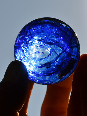 Blue Hand Blown Glass