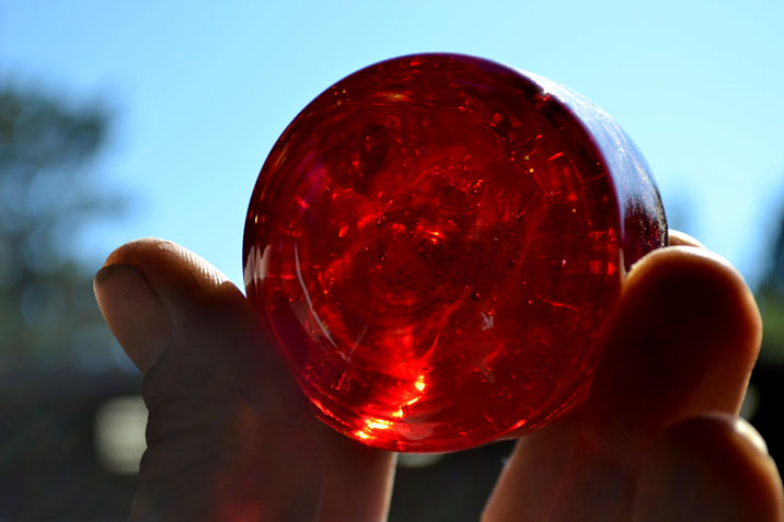 Red Hand Blown Glass