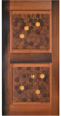 Hexagon door side detail