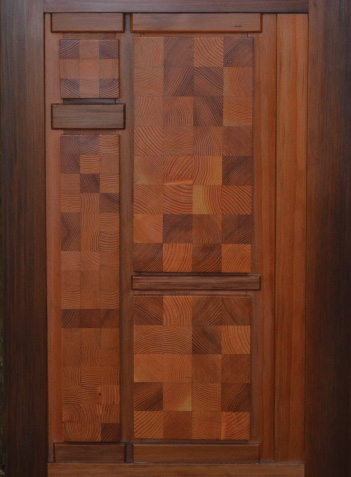 Puzzle door endgrain detail
